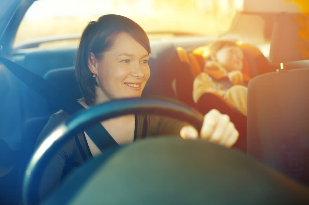 模範的な女性ドライバー