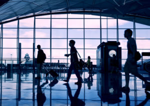 もの寂しい空港の風景