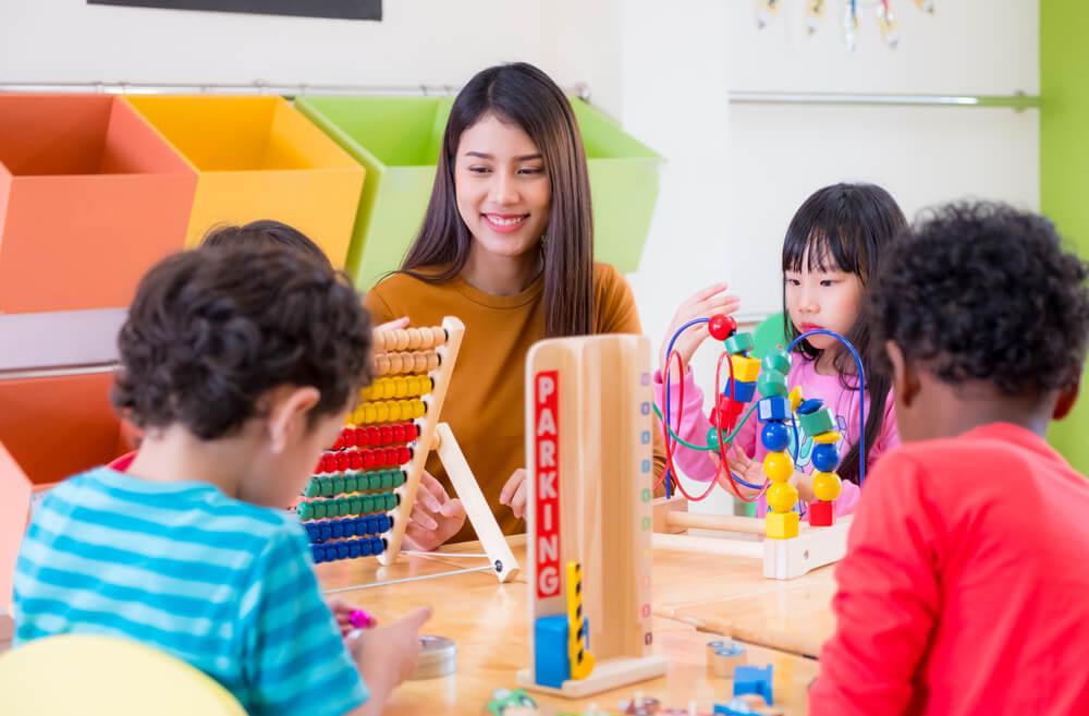 多国籍な子供が通う日本の保育園教室