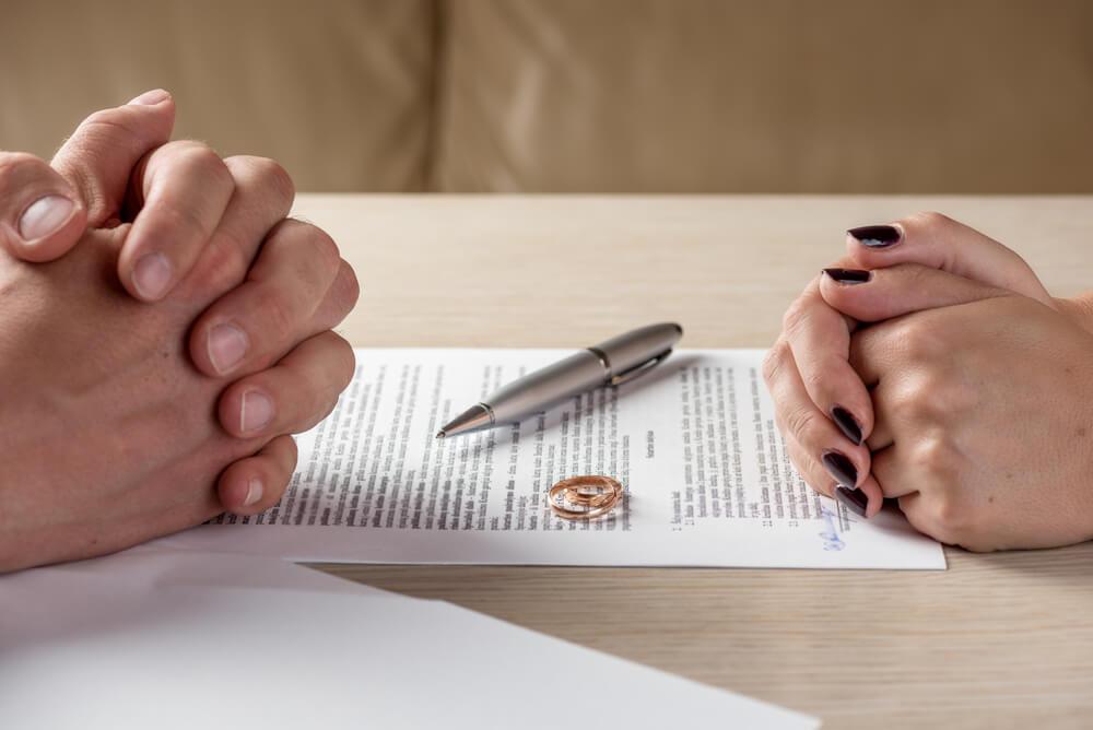 離婚調停のシーン
