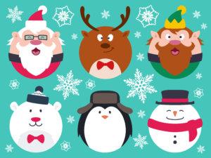 クリスマスの人気キャラクターたち