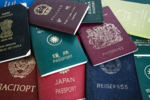 色々な国のパスポート