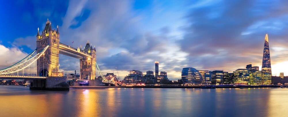 ロンドンブリッジの夕焼け風景