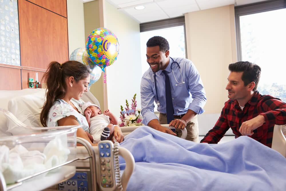 海外の病院で出産